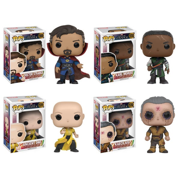 Funko Dr. Strange: POP! Marvel Collectors Set; Dr. Strange, Mordo, Ancient One, Kaecilius