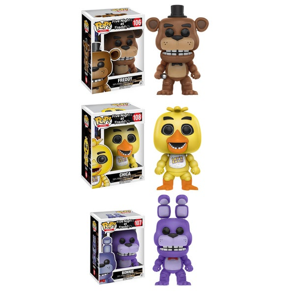Funko POP! 'Five Nights at Freddy's' Freddy, Bonnie, and Chica Vinyl Games Collectors Set 21976954