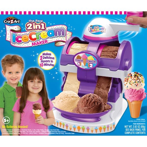 Cra-Z-Art Plastic The Real 2in1 Ice Cream Maker 21977010