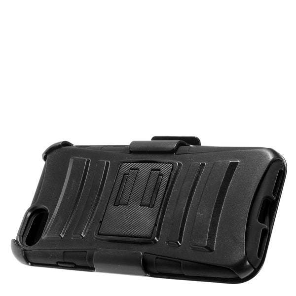 Apple iPhone 7 Black TPU/PC Protective Case with Holster