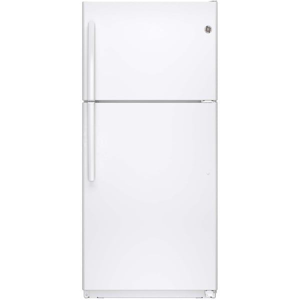 GE Energy Star White 18.2 Cu.Ft. Top-Freezer Refrigerator