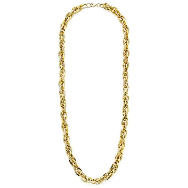 18k Yellow Gold Double Link Rolo Chain Necklace 21980574