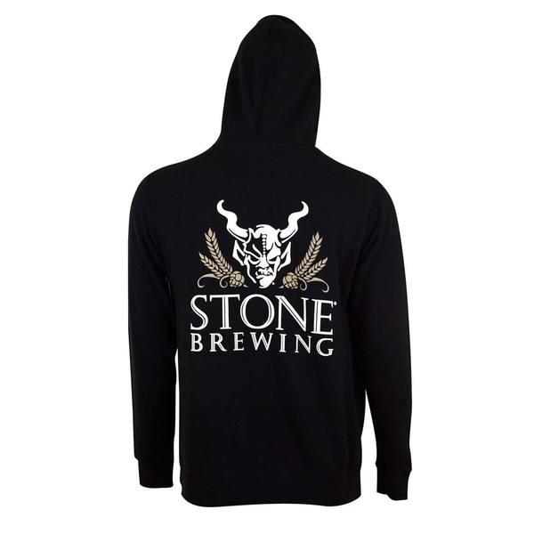 Stone Brewing Men's 4.0 Black Polyester Zip Hoodie Pullover