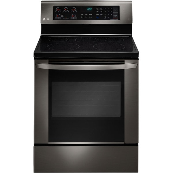 LG Black Stainless Steel 6.3 cu.ft. Electric Single Oven with EasyClean Technology