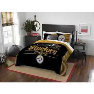 The Northwest Co NFL Pittsburgh Steelers Draft Full/Queen 3-piece Comforter Set