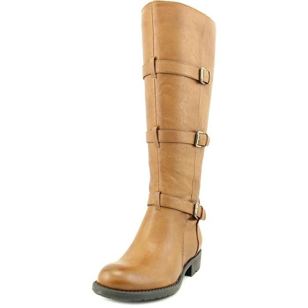 Franco Sarto Women's Petite Wide Calf Tan Faux-leather Boots