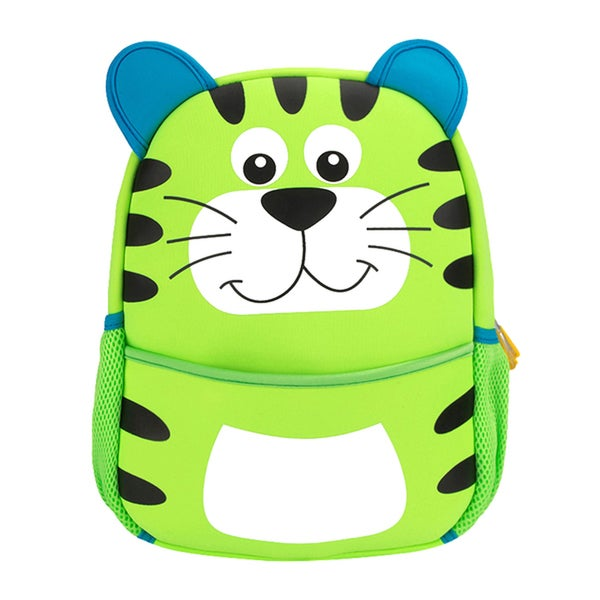 Little Kids Green Tiger Cartoon Backpack