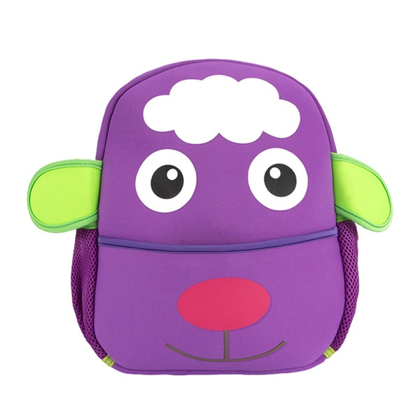 Little Kids Purple Lamb Cartoon Backpack