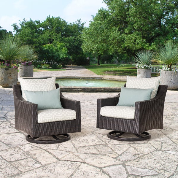 Deco Set of 2 Spa Blue Deluxe Motion Club Chairs by RST Brands