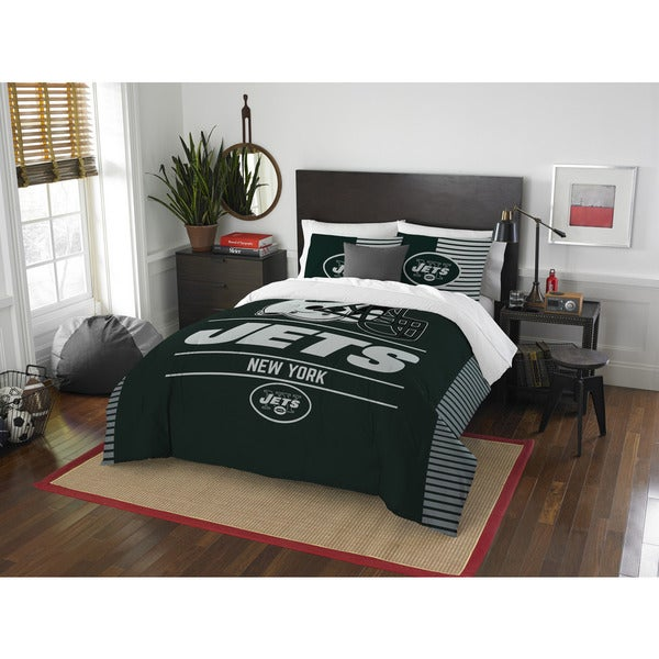 The Northwest Company NFL New York Jets Draft Full/Queen 3-piece Comforter Set 21981424