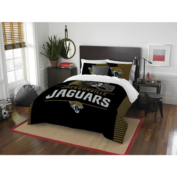 NFL 849 Jaguars Draft Full/Queen 3-piece Comforter Set