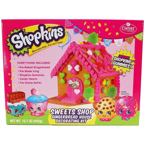 Shopkins Sweets Shop Gingerbread House Decorating Kit