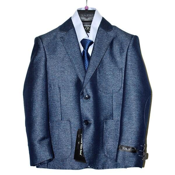 Tazio Boys' Blue Poly Rayon 5-piece Suit Set