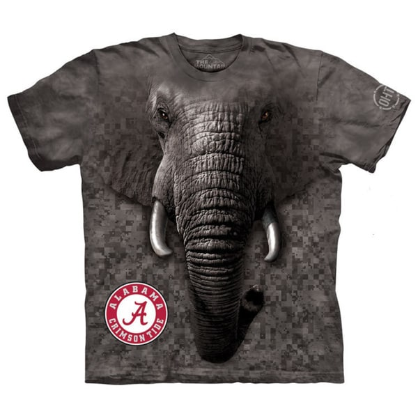 The Mountain Grey Cotton Big Face Crimson Tide T-shirt