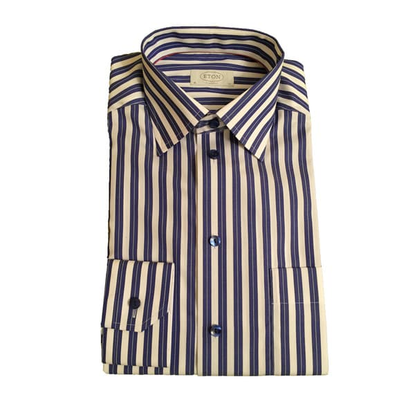 Eton Men's Cotton Striped Shirt