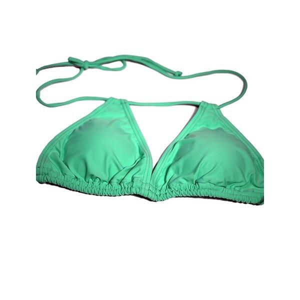 Women's Mint Green Double Slide Tri Top