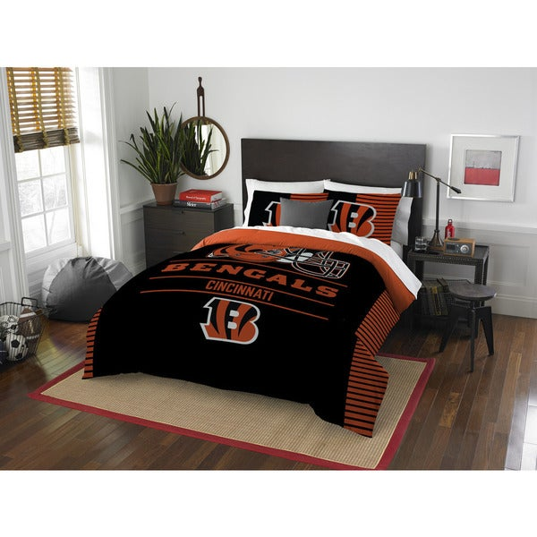 NFL 849 Bengals Draft Full/Queen 3-piece Comforter Set