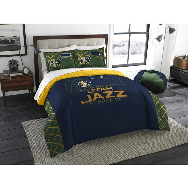 NBA 849 Jazz Reverse Slam Full/Queen 3-piece Comforters Set
