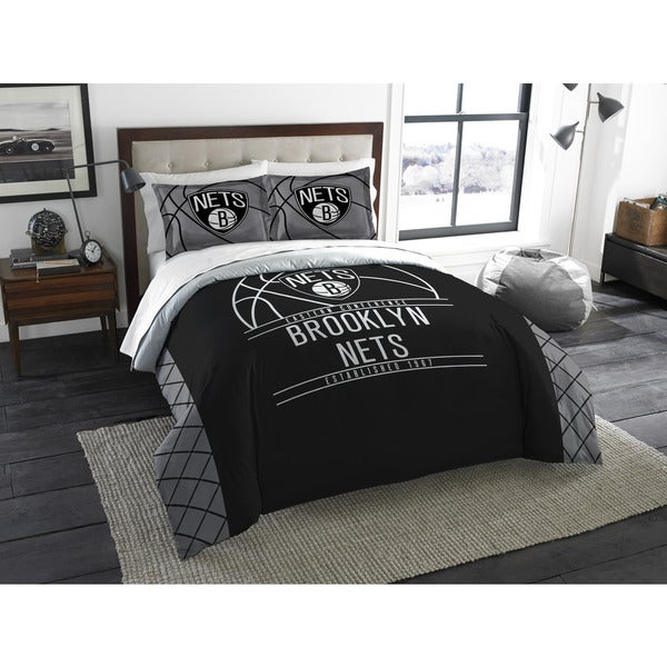 NBA 849 Nets Reverse Slam Full/Queen 3-piece Comforters Set