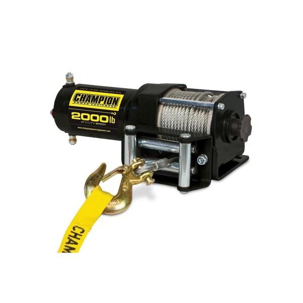 Champion Power Equipment 12003 2000-pound ATV/UTV Winch Kit (12V DC)
