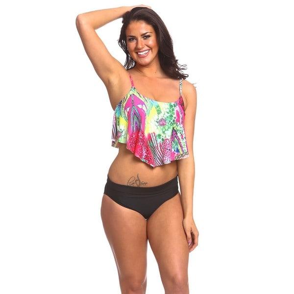 Women's Black Missy Fold-over Bikini Bottoms