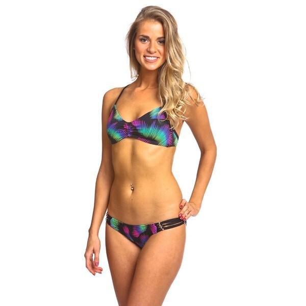 Women's Pool Green Racer Back Ballet Bikini Set
