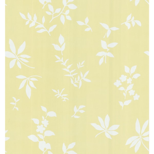 Brewster Light Yellow Fern Wallpaper
