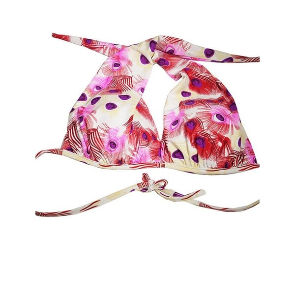 Peacock Halter-style Bikini Top