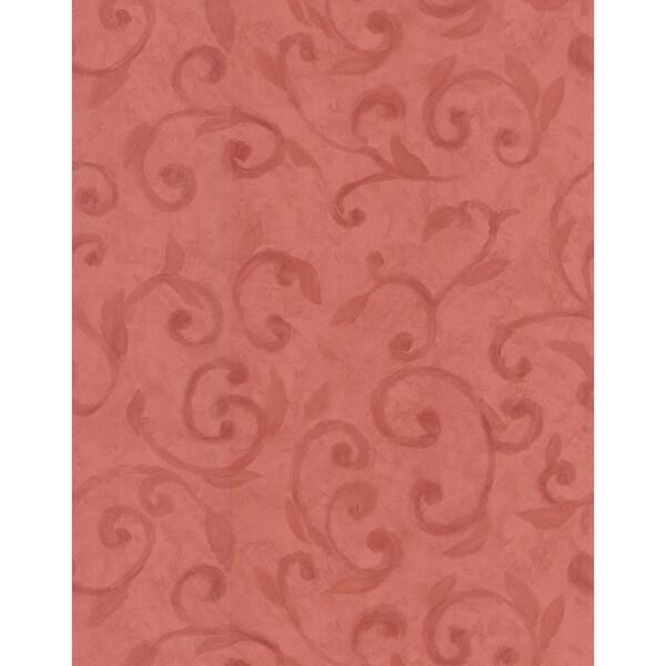 Brewster Red Leaf Wallpaper