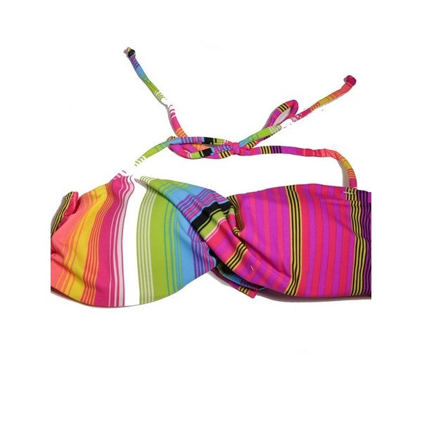 Bright Stripes Twist Bandeau Top