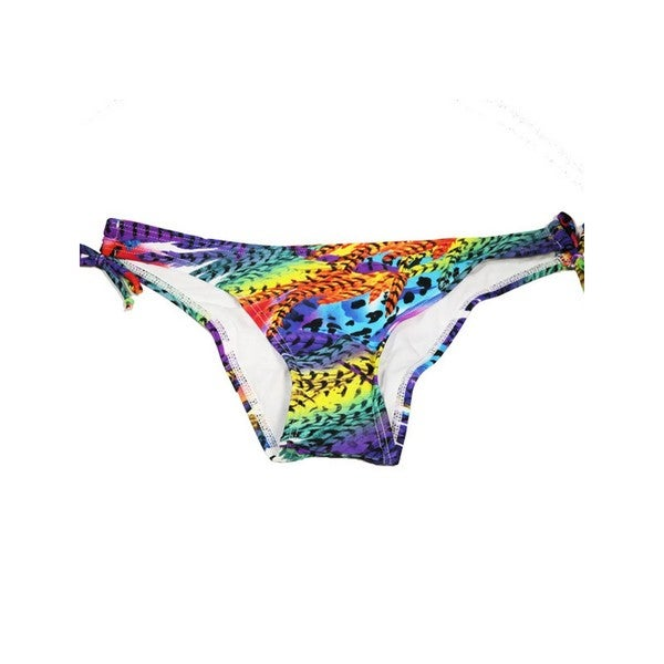 Women's Bright Feathers Key Hole Bikini Bottoms