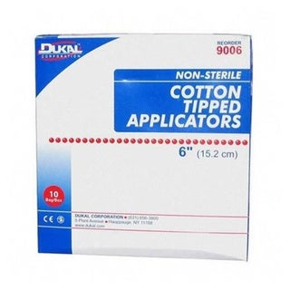 Dukal Cotton-tipped 6-inch Applicators (Case of 1,000)