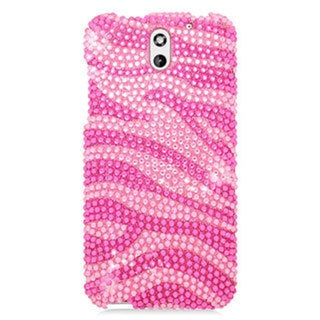 HTC Desire 610 Cs Hot Pink Zebra Diamond Cover Case