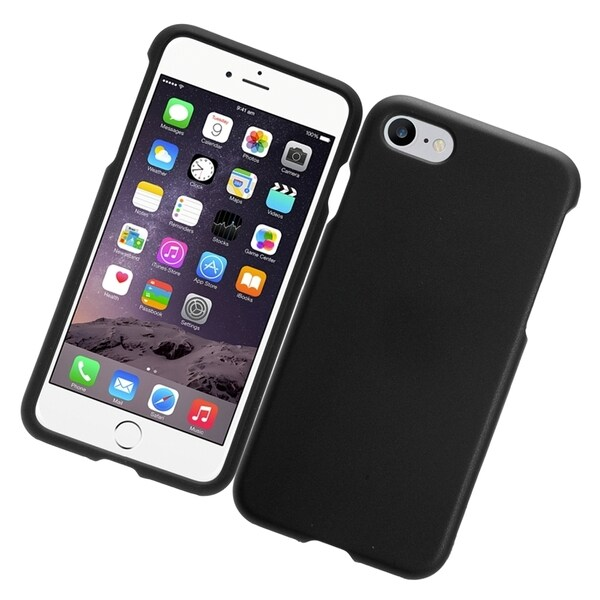 Black Rubber Cover for Apple iPhone 7