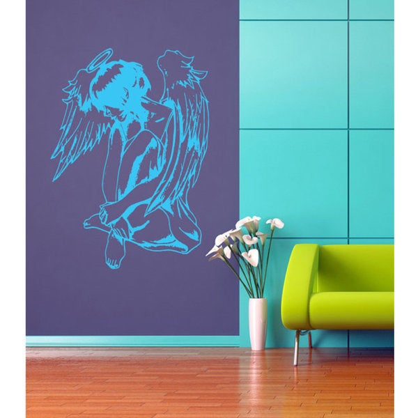 Anime decal, Anime stickers, Anime Vinyl, Angel wings, Angel wings Sticker Decal size 22x30 Color Blue
