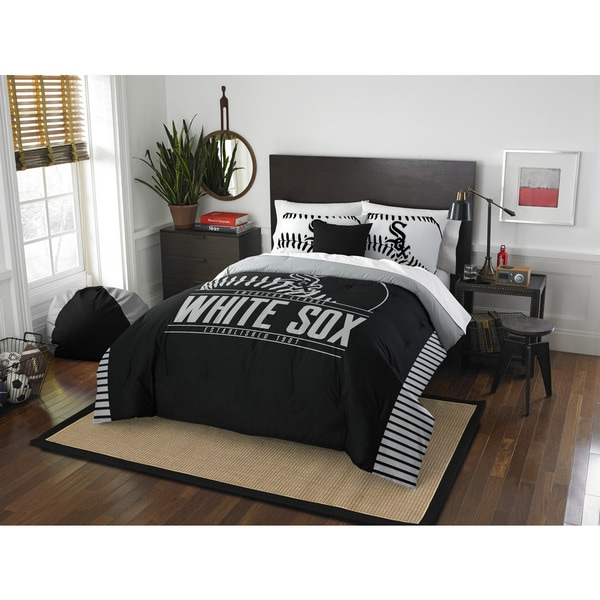 The Northwest Company MLB 849 Chicago White Sox Grandslam Full/Queen 3-piece Comforter Set