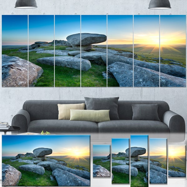 Designart 'Bodmin Moor Moorland in Cornwall' Large Landscape Canvas Art
