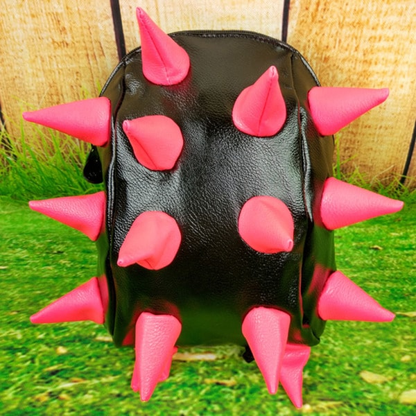 Little Kids' Black With Rose 3D Spike Backpack