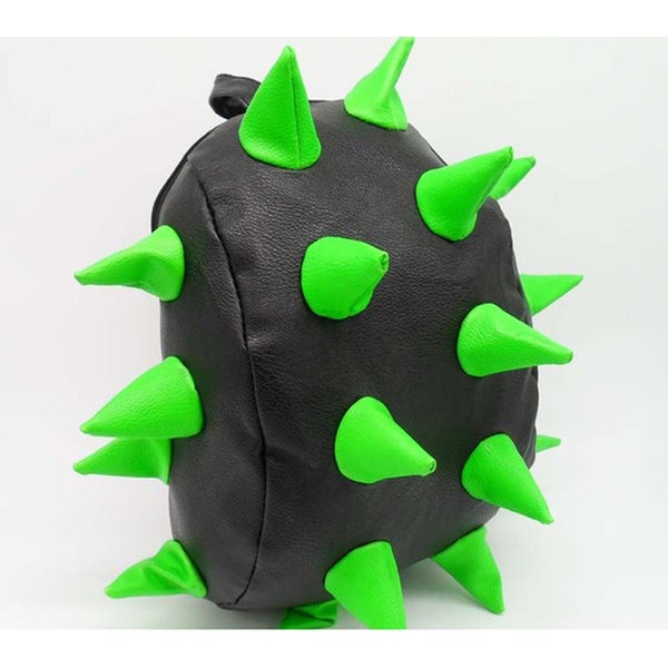 Little Kids Black with Green Synthetic Leather 3D Spike Backpack