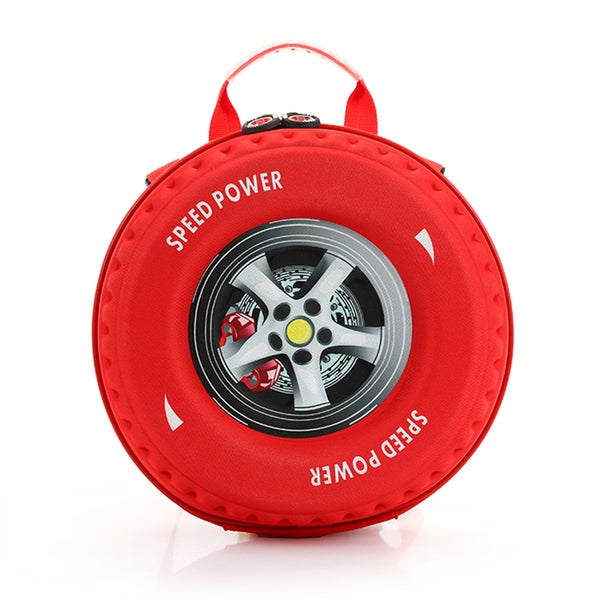 Little Kids Red EVA 3D Tire Backpack