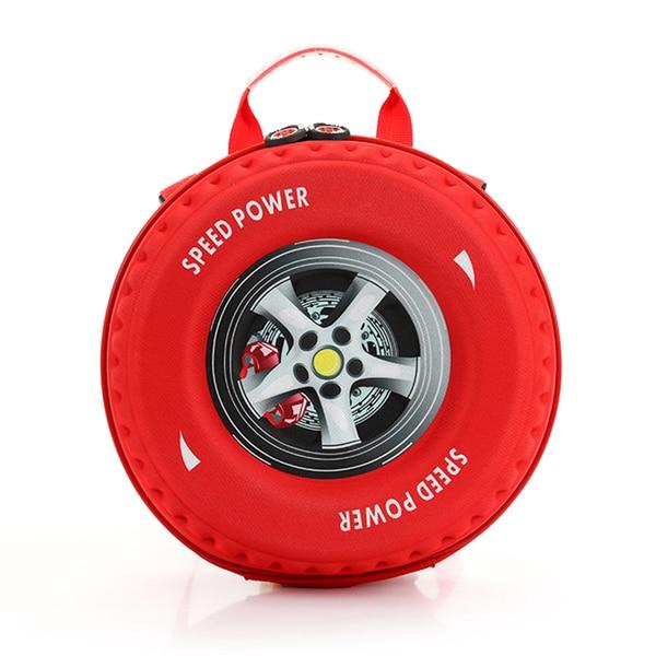 Little Kids Red EVA 3D Tire Backpack