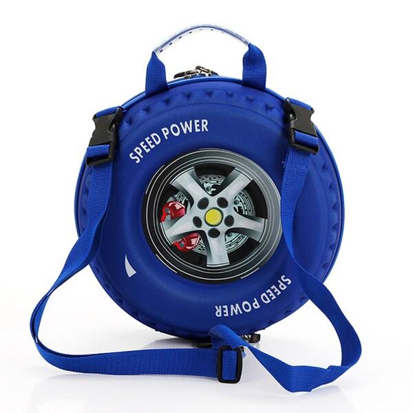 Little Kids Blue 3-D Tire Backpack