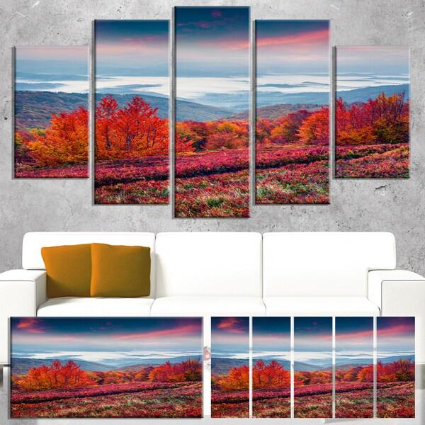 Designart 'Autumn in the Carpathian Mountains' Landscape Artwork Canvas Print