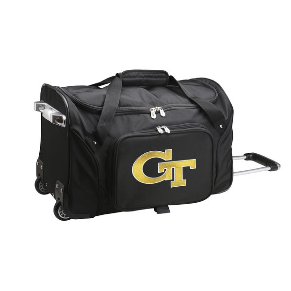 Denco Sports Georgia Tech Black Nylon/Polyester 22-inch Carry-on Rolling Duffel Bag