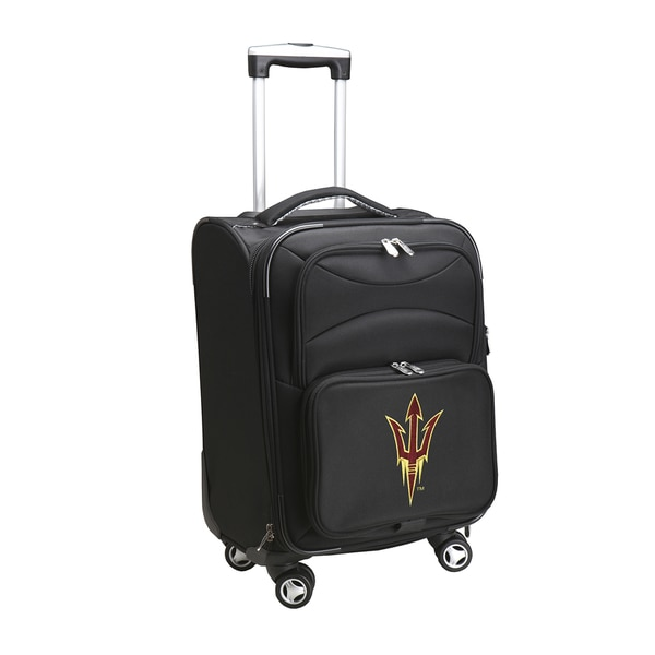 Denco Sports Arizona State Black Nylon/Fabric 20-inch Carry-on 8-wheel Spinner Suitcase