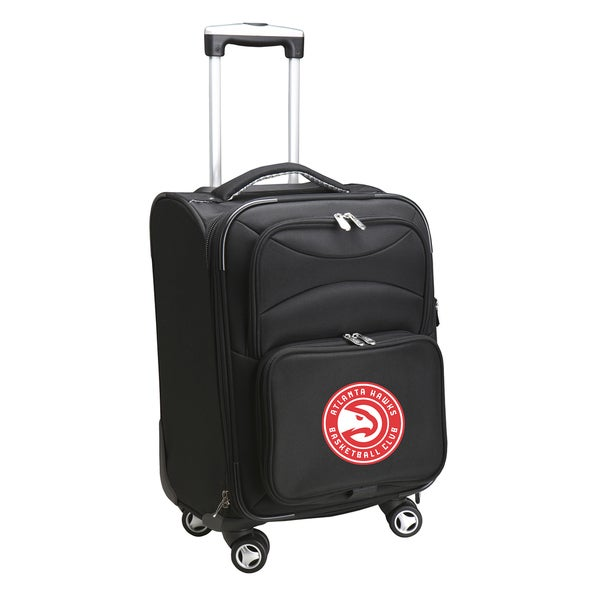 Denco Atlanta Hawks Black Ballistic Nylon 20-inch Carry-on 8-wheel Spinner Suitcase