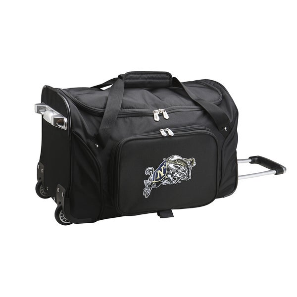Denco Sports US Naval Academy 22-inch Carry On Rolling Duffel Bag