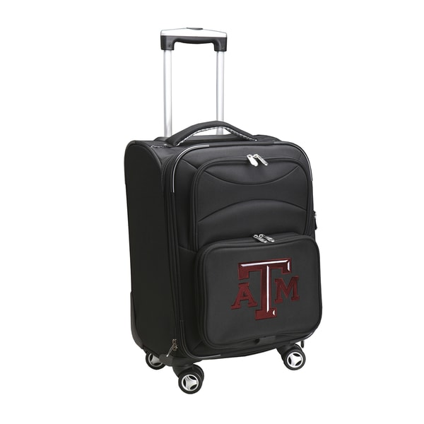 Denco Sports Texas A&M Black Nylon 20-inch Carry-on 8-wheel Spinner Suitcase