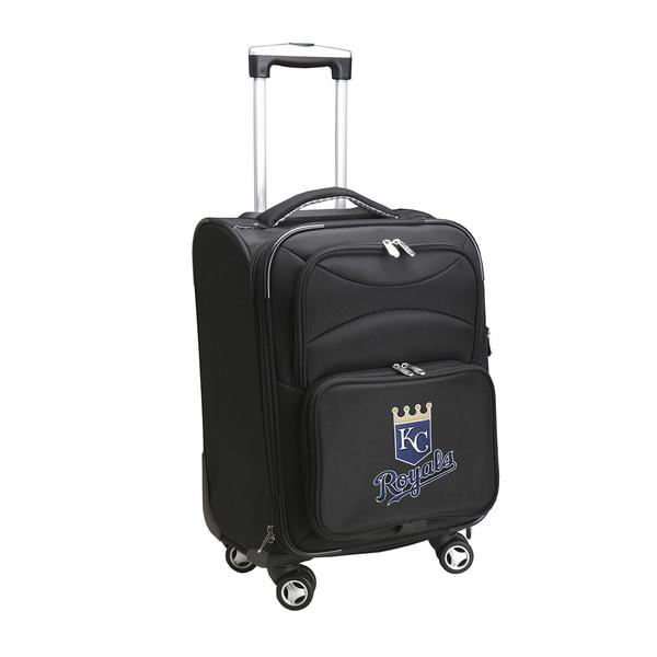 Denco Kansas City Royals Black Nylon 20-inch Carry-on 8-wheel Spinner Suitcase