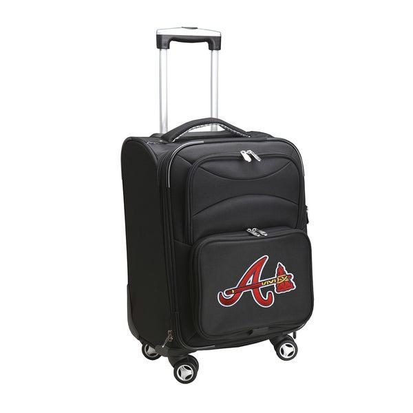 Denco Atlanta Braves Black Nylon 20-inch Carry-on 8-wheel Spinner Suitcase